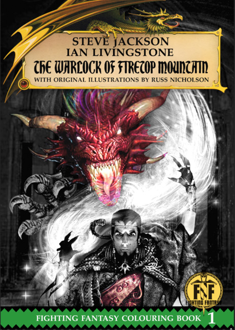 The Warlock of Firetop Mountain Colouring Book