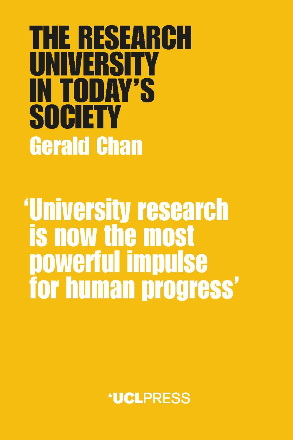 The Research University in Today's Society