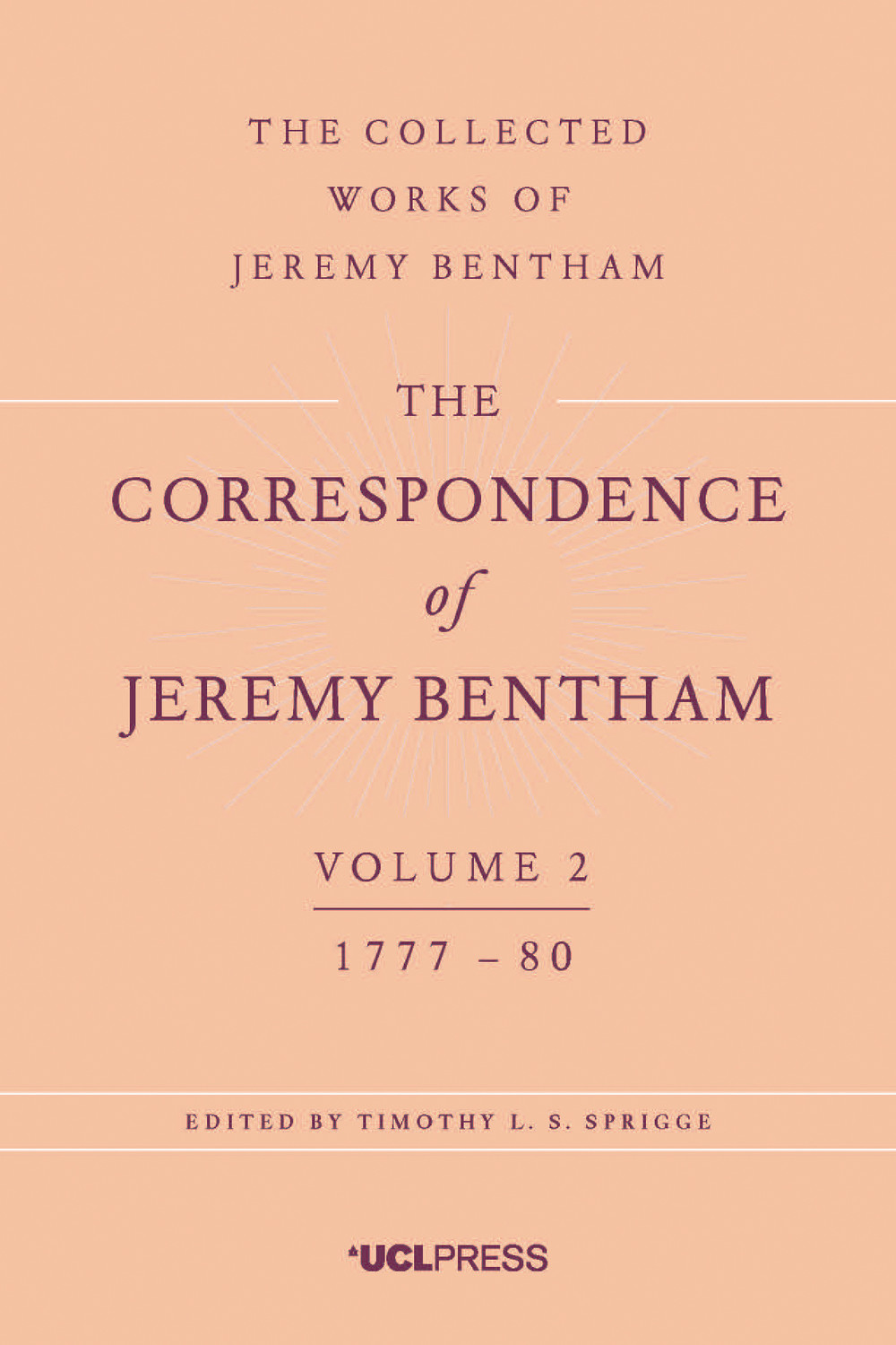 The Correspondence of Jeremy Bentham, Volume 2