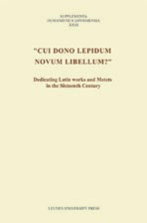 Cui dono lepidum novum libellum