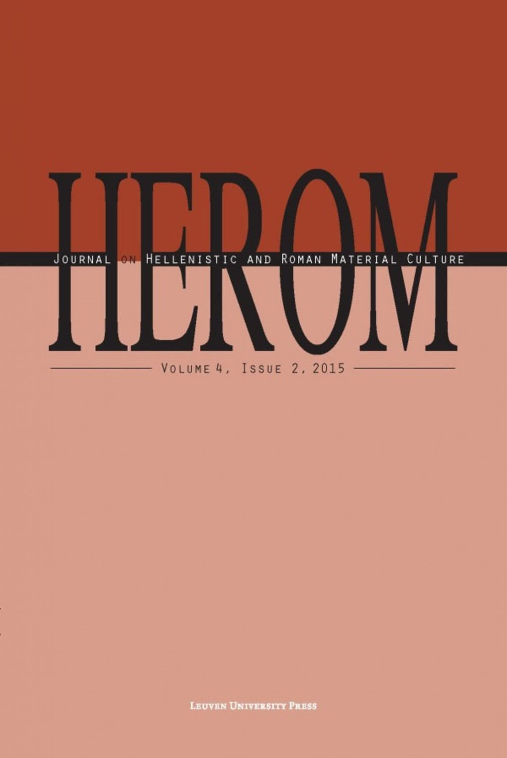 HEROM Volume 4 Issue 2, 2015 (Journal Subscription)
