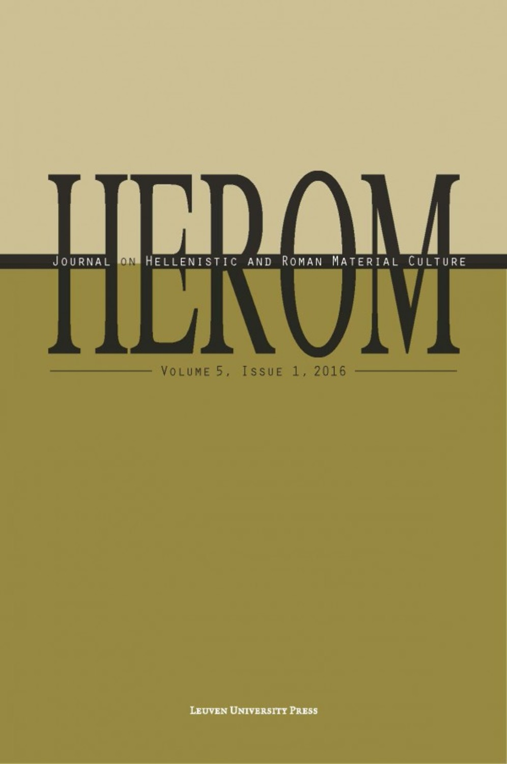 HEROM Volume 5 Issue 1, 2016 (Journal Subscription)
