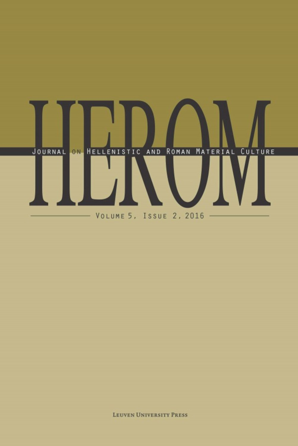 HEROM Volume 5 Issue 2, 2016 (Journal Subscription)