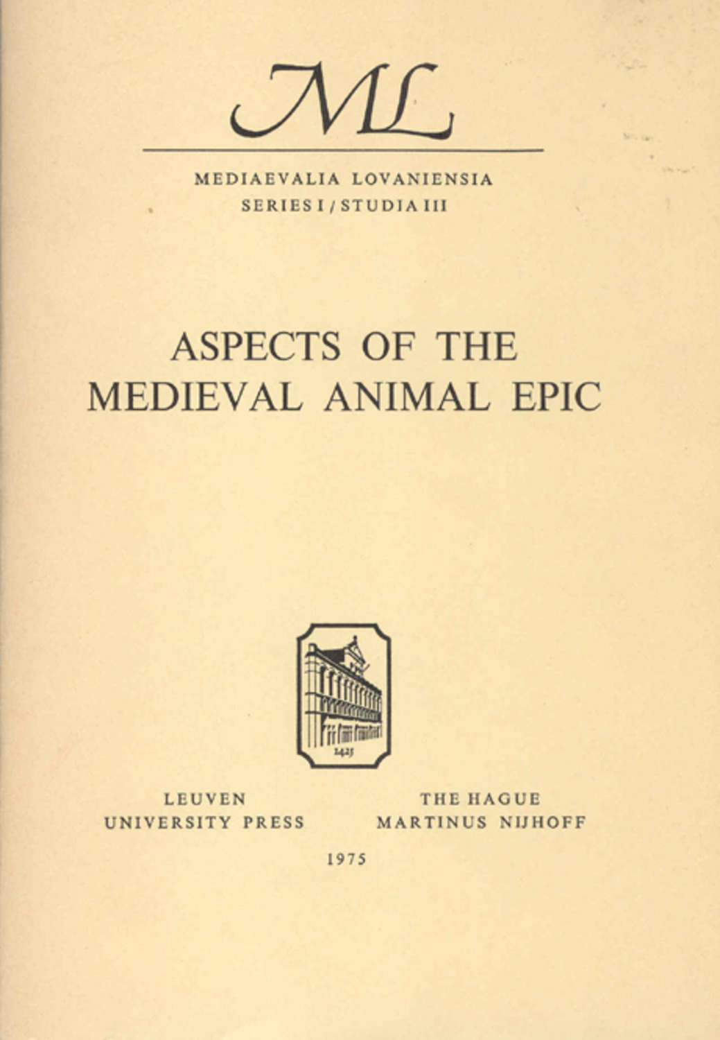 Aspects of the Medieval Animal Epic