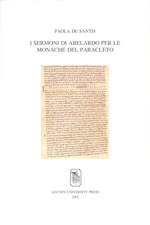 I Sermoni di Abelardo per le Monache del Paracleto